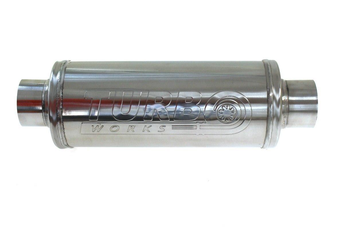 Tłumik Środkowy 89mm TurboWorks RS 304SS 450mm - GRUBYGARAGE - Sklep Tuningowy